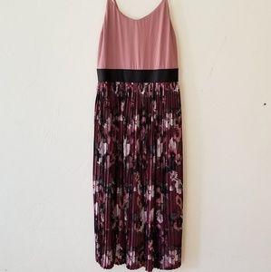 .Xhilaration//Sugar Plum Pleated Dress SM